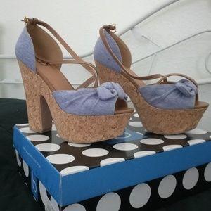 Light Blue Platform Heels